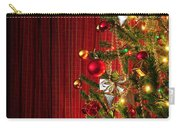 Xmas Tree On Red Carry-all Pouch by Carlos Caetano