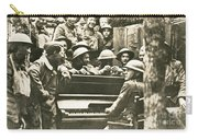 Yankee Soldiers Around A Piano Carry-all Pouch by Photo Researchers