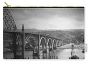 Yaquina Bay Bridge Oregon B And W Carry-all Pouch