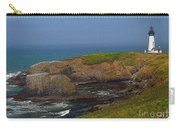 Yaquina Head Lighthouse And Bay - Posterized Carry-all Pouch