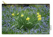 Yellow And Blue Flowers Carry-all Pouch