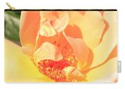 Yellow And Peach Rose Carry-all Pouch