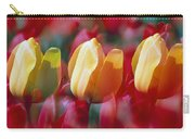 Yellow And Red Tulip Blooms Carry-all Pouch