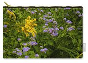Yellow And Violet Flowers Carry-all Pouch