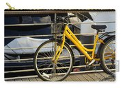 Yellow Bicycle Carry-all Pouch by Carlos Caetano