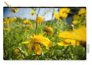Yellow Blooming Wildflowers Carry-all Pouch