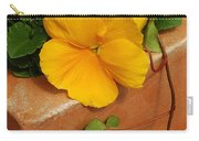 Yellow Blossom On Planter Carry-all Pouch