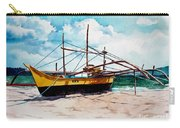 Yellow Boat Docking On The Shore Carry-all Pouch
