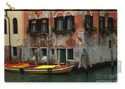 Yellow Boat Venice Italy Carry-all Pouch
