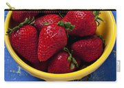 Yellow Bowl Of Strawberries Carry-all Pouch