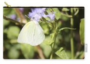 Yellow Butterfly Feeding On Violet Flower Carry-all Pouch
