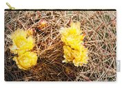 Yellow Cactus Flowers Carry-all Pouch