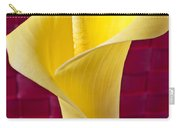 Yellow Calla Lily Red Mat Carry-all Pouch