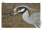 Yellow Crowned Night Heron With Catch Carry-all Pouch