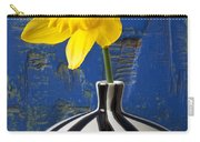 Yellow Daffodil In Striped Vase Carry-all Pouch