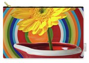 Yellow Daisy In Red Pitcher Carry-all Pouch