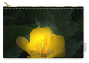 Yellow Flower Against Green Carry-all Pouch