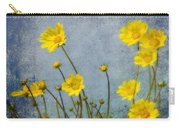 Yellow Flower Blossoms Carry-all Pouch