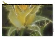 Yellow Fractalius Rose Carry-all Pouch