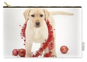 Yellow Lab Pup At Christmas Carry-all Pouch