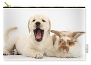 Yellow Lab Puppy With Rabbit Carry-all Pouch