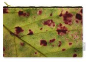 Yellow Leaf With Red Spots 2 Carry-all Pouch