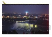Yellow Light Over The Niagara Falls  - Canada Carry-all Pouch