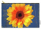 Yellow Mum In Yellow Vase Carry-all Pouch