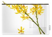 Yellow Orchid Bunchs Carry-all Pouch by Atiketta Sangasaeng