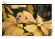 Yellow Petal Leaf With Sprig Carry-all Pouch