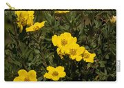 Yellow Potentilla Or Cinquefoils  Carry-all Pouch