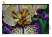 Yellow  Purple Iris Carry-all Pouch