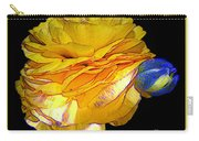 Yellow Ranunculus Flower With Blue Colored Edges Effect Carry-all Pouch