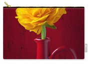 Yellow Ranunculus In Red Pitcher Carry-all Pouch