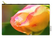Yellow Rose Tipped In Pink Carry-all Pouch