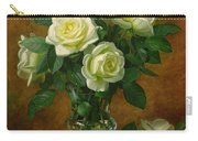 Yellow Roses Carry-all Pouch by Albert Williams