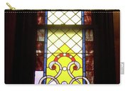 Yellow Stained Glass Window Carry-all Pouch
