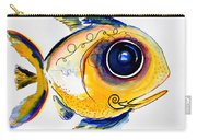 Yellow Study Fish Carry-all Pouch by J Vincent Scarpace
