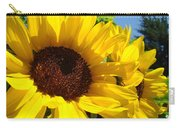 Yellow Sunflowers Art Prints Summer Sunflower Carry-all Pouch