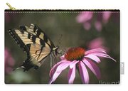 Yellow Swallowtail And Purple Coneflower Carry-all Pouch