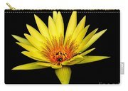 Yellow Water Lily Carry-all Pouch by Nick Zelinsky