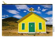Yellow Western School House Carry-all Pouch