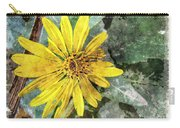 Yellow Wildflower Photoart Carry-all Pouch