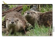 Yellowstone River Otters Carry-all Pouch
