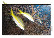 Yellowtail Snappers And Sea Fan, Belize Carry-all Pouch