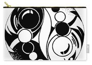 Yin And Yang Fish Design Carry-all Pouch