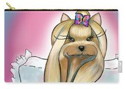 Yorkie Rapunzel Carry-all Pouch