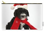 Yorkipoo Pup Wearing Christmas Hat Carry-all Pouch