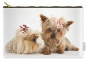 Yorkshire Terrier And Guinea Pig Carry-all Pouch