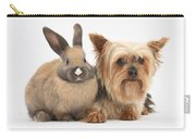 Yorkshire Terrier And Young Rabbit Carry-all Pouch